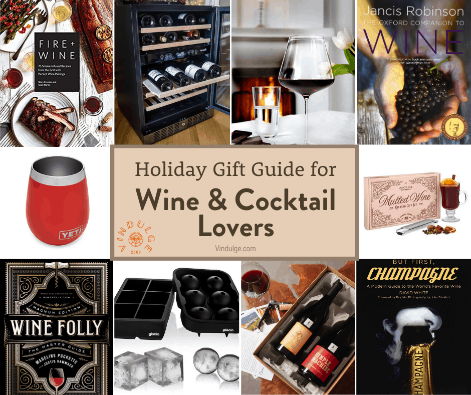 Cover collage for Vindulge wine and cocktail gift guide.