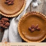 Grilled Pumpkin Pie Pinterest Pin on light Background