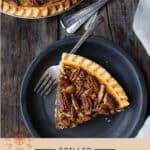 Grilled Pecan Pie Pinterest Pin with text on light background