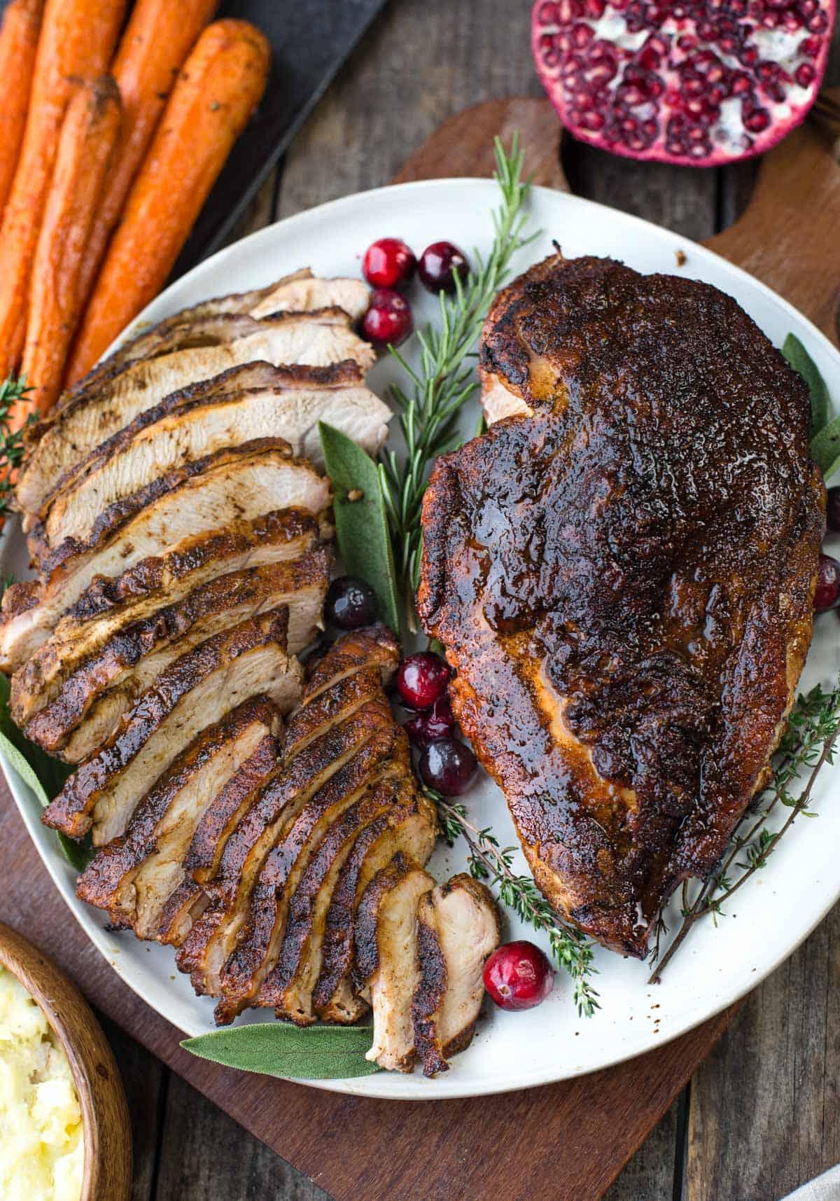 Grilled Turkey Breast with Cajun Seasoning.