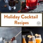 Holiday cocktails roundup pinterest pin
