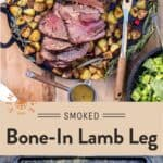 Smoked Bone-In Leg of Lamb Pin