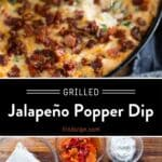 Grilled Jalapeño Popper Dip Pinterest Pin