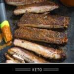 keto smoked ribs pinterest pin