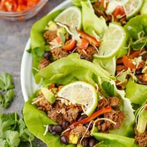 Ground Beef Taco Lettuce Wraps