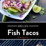 Grilled Fish Taco pinterest Pin
