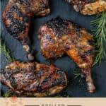 Grilled Balsamic Glazed Chicken Pinterest Pin