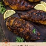 Blackened Chicken Pinterest Pin