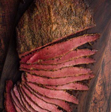 Smoked Corned Beef Brisket Flat