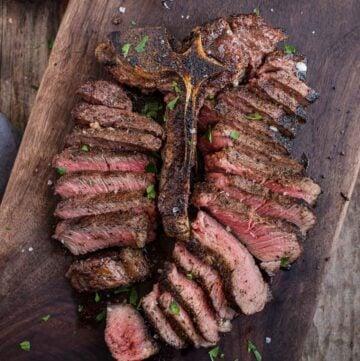 Sliced Porterhouse Steak