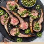 Grilled Rack of Lamb Pin
