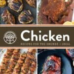 Smoked and Grilled Chicken Recipes Pin