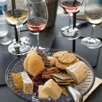 Finger Lakes Wine with cheese flight at Dr. Konstantin Frank.