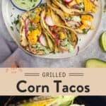 Grilled Corn and Chicken Tacos Pin