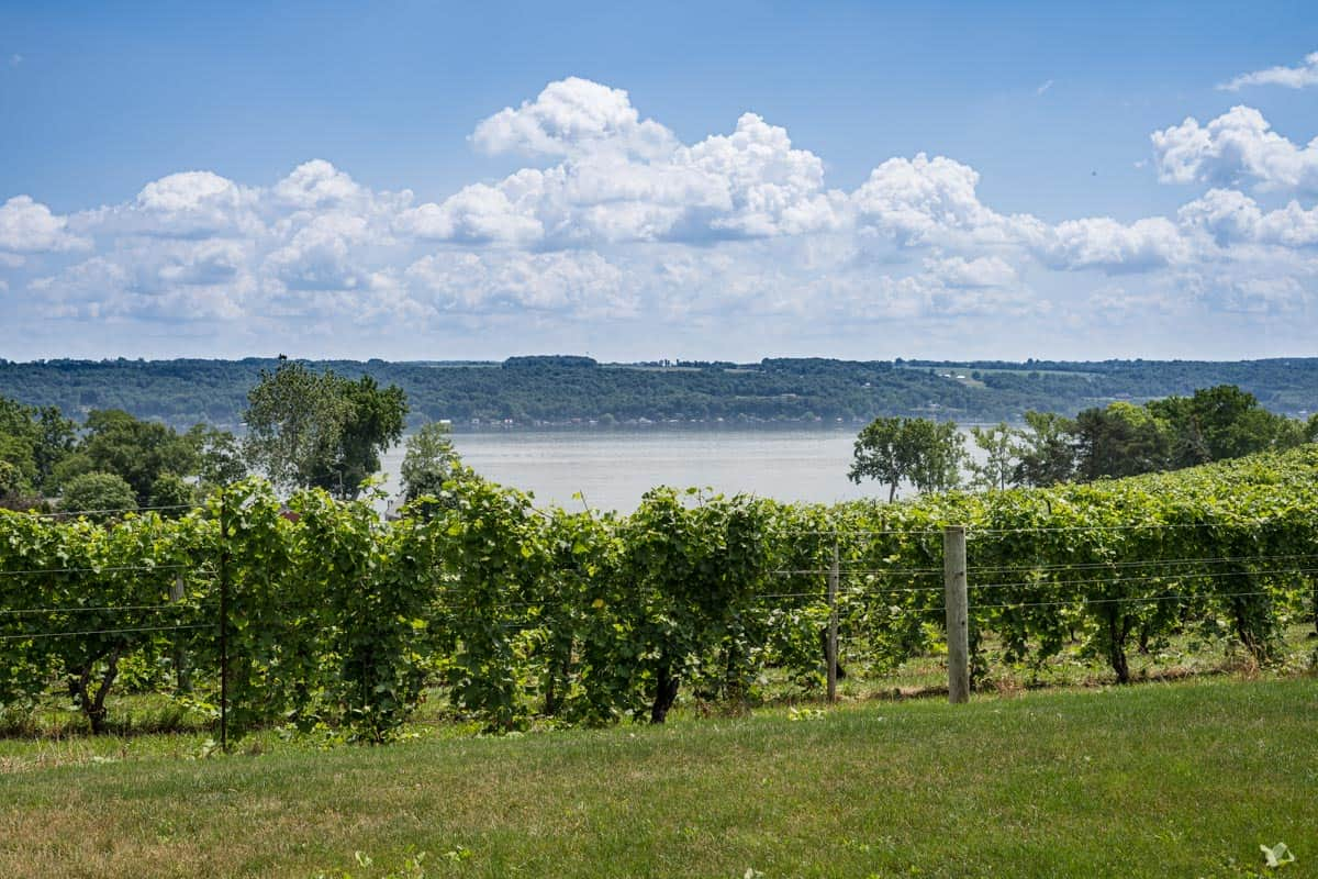A view of Seneca Lake, Finger Lakes region of New York