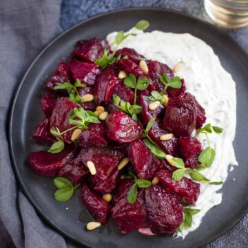 Smoked Beets with Goat Cheese Ranch dip