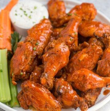 Grilled Buffalo Chicken Wings on a platter