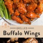 Grilled Buffalo Chicken Wings Pin