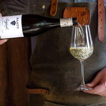 A bottle of Chenin Blanc wine
